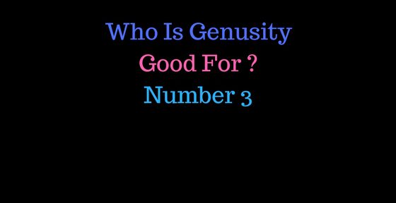 Who Is Genusity Good For Number 3